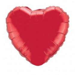 micro coeur rouge 10 cm vendu non gonflé