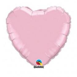 micro coeur rose pastel 10 cm 27164 QUALATEX Micros Coeurs 10 cm Couleurs Unis (air)