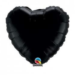 coeur noir mylar 45 cm