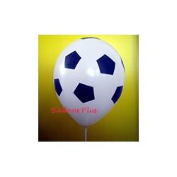 ballons foot imprimé tout autour par poche de 6 ballons