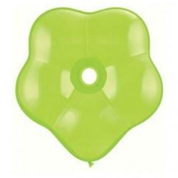 qualatex géo blossom 40 cm de diamètre vert lime en poche de 5