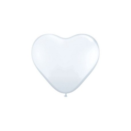 Coeur 90 cm blanc qualatex