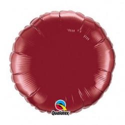 mylar 45 cm de diamètre bordeaux74917 QUALATEX Rond 45 cm mylar