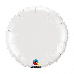 ballons mylar rond 45 cm blanc12921 QUALATEX Rond 45 cm mylar