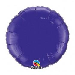 ballon mylar 45 cm rond violet vendu non gonflé99639 QUALATEX Rond 45 cm mylar