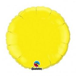 mylar rond 45 cm de diamètre jaune vendu non gonflé12915 QUALATEX Rond 45 cm mylar