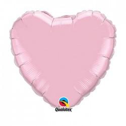 coeur mylar 45 cm rose clair99349coeurperalpink18p1 QUALATEX Coeur Ballons Mylar 45 Cm