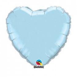 coeur mylar 45 cm bleu ciel