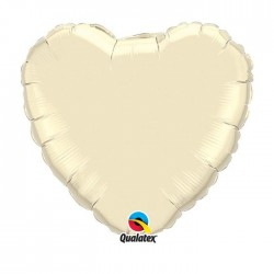 coeur mylar 45 cm ivoire