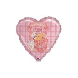 coeur naissance fille ballon mylar 45 cm non gonflé