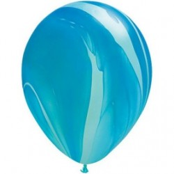 qualatex agathe 28 cm de diamètre bleu