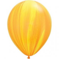 qualatex agathe jaune 28 cm de diamètre Les Ballons De Decorations
