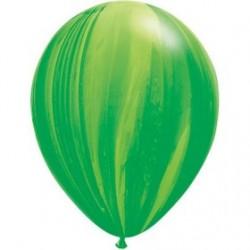 qualatex agathe 28 cm de diamètre vert BALLONS OPAQUES