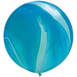 qualatex agathe 90 cm de diamètre bleu