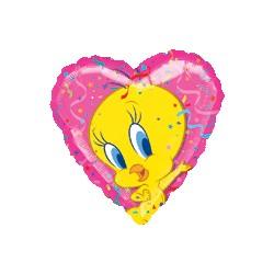 portrait de titi, ballons coeur mylar 45 cm de diamètre