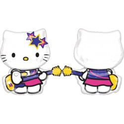 hello kitty Rock star ballon mylar forme 70 cm environ Hello Kitty Et Charmmy Kitty