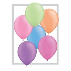 assortiment neon 28 cm poche de 2574589 QUALATEX 28 Cm Neon 28 Cm Ø Qualatex Ballons