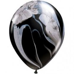 Agathe noire et blanche ballon qualatex 28 cm Les Ballons De Decorations