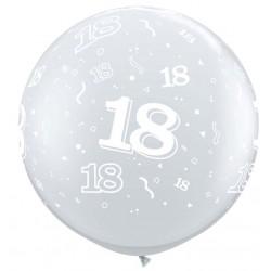 ballons 18 tout autour clair diamant 90 cm de diamètre Chiffres De 18 A 100 Ballons Imprimes