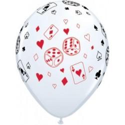 25 ballons 28 cm sur le thème du jeu et des casinos QUALATEX Casino - Cinema