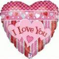 I love you holographique 45 cm à plat