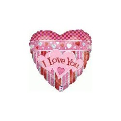 I love you holographique 45 cm à plat86301P BETALLIC Amour Ballons Metal Mylar