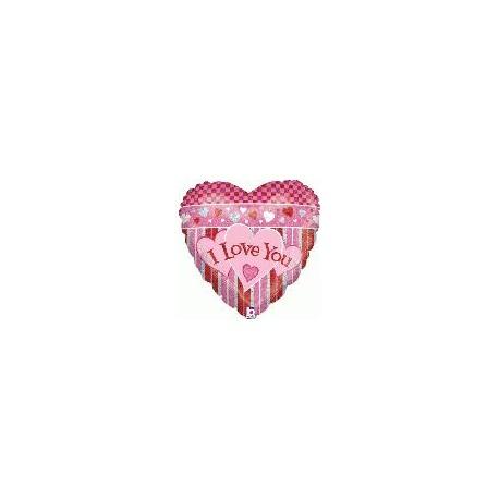 I love you holographique 45 cm à plat86301P BETALLIC Amour Ballons Metal Mylar