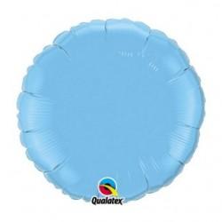 bleu ciel rond mylar qualatex 45 cm de diamètre12908 QUALATEX Rond 45 cm mylar