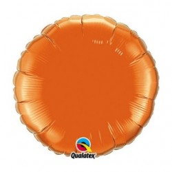 couleur orange ballons mylar qualatex 45 cm de diamètre12916 QUALATEX Rond 45 cm mylar