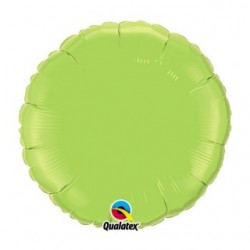 vert lime green rond 45 cm de diamètre mylar qualatex73310 QUALATEX Rond 45 cm mylar