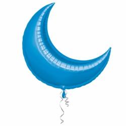 Croisssant lune bleu 88 cm mylar