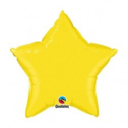 etoile mylar jaune 50 cm