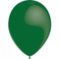 VERT FONCE ballons PERLE METAL 25 cm diamètre POCHE DE 100 BWS 25 cm Métallisé (pour décoration air ou hélium )