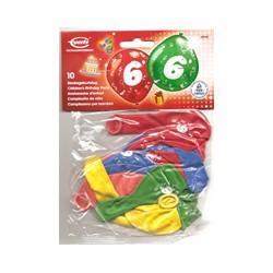 Ballons imprimés 6 tout autour Chiffres De 1 A 10 Anniversaire