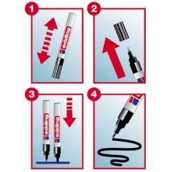 marker ballon Edding 750 blancE750blanc Edding Les Feutres, Les Markers Et Autres Outils De Marquage