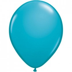 25 ballons qualatex 28 cm couleurs turquoise