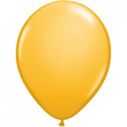 25 ballons qualatex 28 cm couleurs jaune d'or