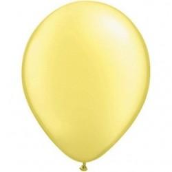 qualatex perlé pastel citron 28 cm poche de 25
