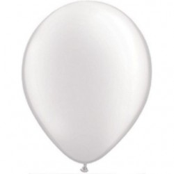 25 ballons qualatex 28 cm perlé blanc