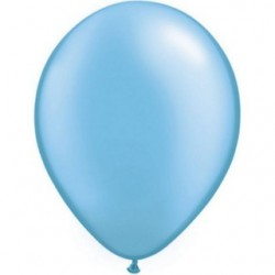 qualatex perlé bleu azure 28 cm poche de 2543768 pba q28 p25 QUALATEX 28 cm Perle Pastel (Satin, Nacré, Perlé) 28 cm Ø Ballo...