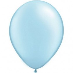 25 ballons qualatex 28 cm perlé pastel bleu ciel