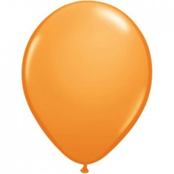 25 ballons qualatex 28 cm opaque orange