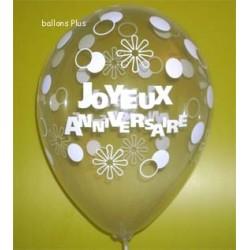 6 Joyeux anniversaire 28 cm de diamètre2020_445445897 Anniversaire Baudruches Imprimes