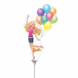 Barbie ballons mini mylar air vendu non gonflé avec tige Mini Amis Des Enfants