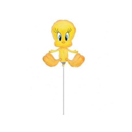 Titi mini ballons mylar 25 cm environ non gonflé air avec tige