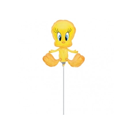 Titi mini ballons mylar 25 cm environ non gonflé air avec tige Mini Amis Des Enfants