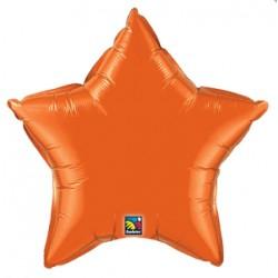 Etoile orange mylar 50 cm
