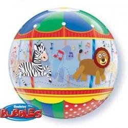 bubble caroussel 56 cm de diamètre QUALATEX Les Clowns Le Cirque