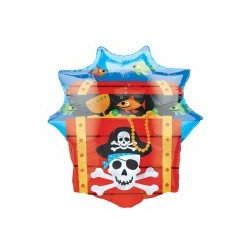 coffre pirate mylar non gonflé 63*71