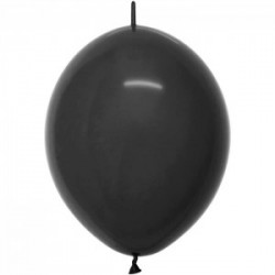 50 ballons fashion solid noir link o loon 15 cm diamètre